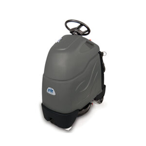Ride-on floor scrubber